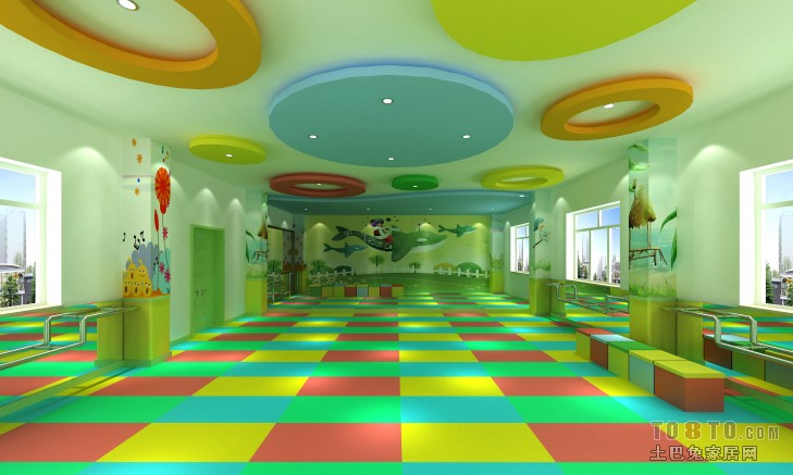 幼儿园环境布置吊饰效果图设计图片赏析