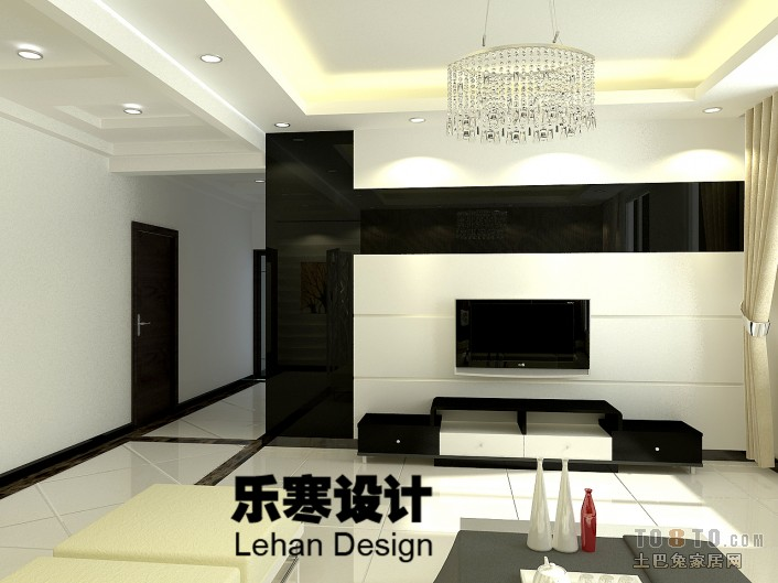 乐寒 北京88平方住宅装修设计 高清图片