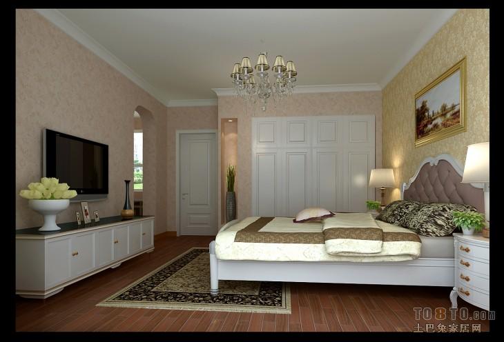 欧式现代卧室装修效果图