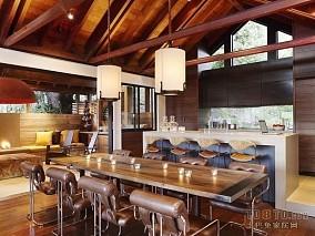热门120平米欧式复式餐厅装饰图片
