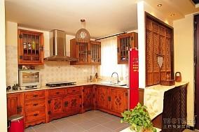 东南亚风格开放式厨房装修效果图