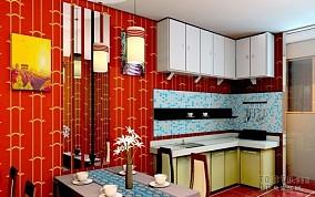 2018精选75平米东南亚小户型厨房装修效果图片大全