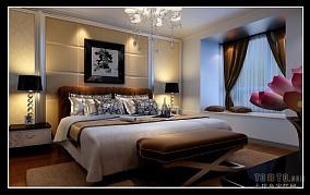 精选95平方三居卧室混搭装修图片大全