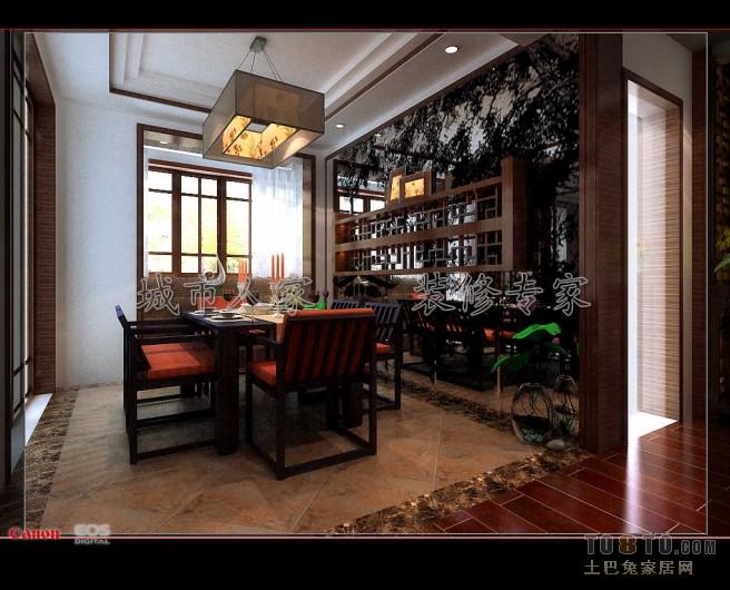 九溪江南-中式古典餐厅装修效果图