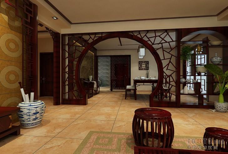 科技厅/供电局-中式古典客厅装修效果图图片