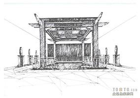 简欧式餐厅吊顶效果图