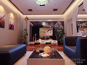 热门87平方二居客厅混搭装饰图片