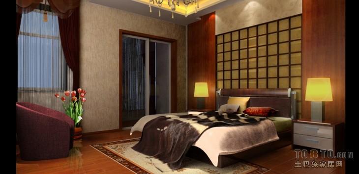 华府庄园-欧式现代卧室装修效果图图片