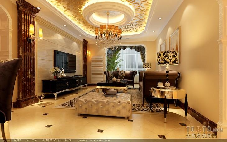 巨海城5区-欧式古典客厅装修效果图