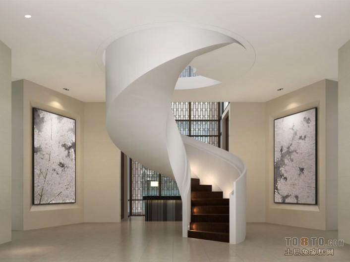 高档会所楼梯设计设计图片赏析