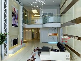 2018精选面积132平复式客厅现代装修实景图片欣赏