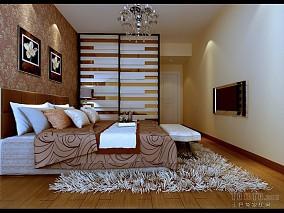 精美129平方四居卧室混搭装修效果图片