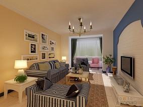 精选大小97平混搭三居客厅装修实景图片