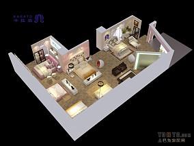 简单90平两室两厅简约图片
