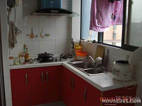 别墅半开放式整体厨房装修效果图片