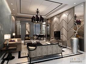 面积81平小户型客厅混搭装修实景图片欣赏