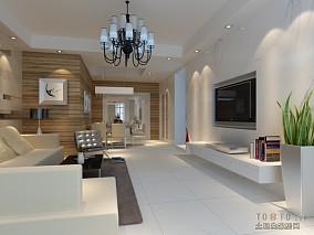 热门面积92平简约三居客厅装修设计效果图片欣赏