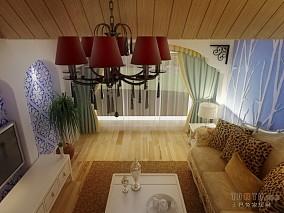 混搭风复古阁楼式一居室图片