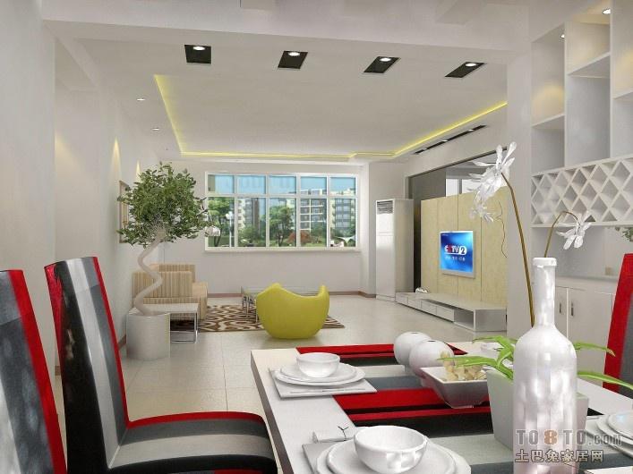 热门100平方三居客厅混搭装修设计效果图