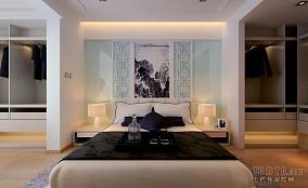 热门95平方三居卧室混搭装修实景图片