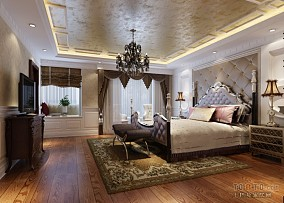 复古风格卧室图片欣赏