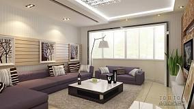 热门83平米二居客厅混搭实景图片欣赏