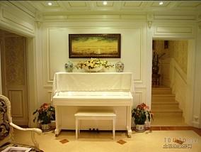 别墅客厅电视背景墙效果图片