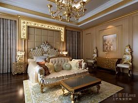 现代风格婚房卧室装修效果图