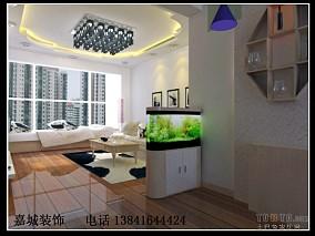 法式风格110平米两室两厅户型装修效果图片