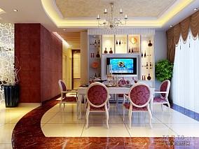 简欧风格别墅室内布艺沙发图片