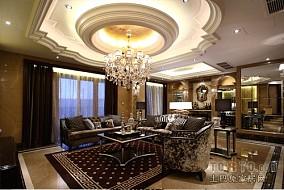 欧式白色装修客厅效果图