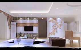 清新素雅现代日式风格玄关设计效果图