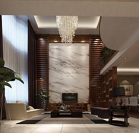 中式家装一居客厅电视背景墙装修效果图