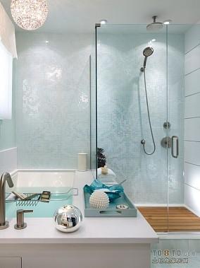 小户型单身公寓卫生间装修效果图