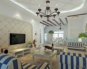 2018地中海复式客厅装修效果图片