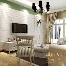 简约客厅背景墙装修样板房