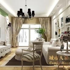 旺角香水岸2栋03户型简约客厅装修样板房