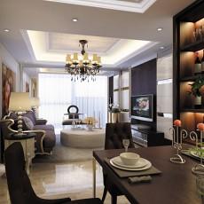 欧式浪漫的餐厅酒柜装修效果图