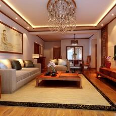 中式家装客厅效果图-西格玛装饰