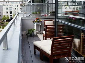 小户型阳台简约装修实景图片欣赏