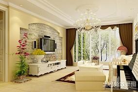 热门面积79平小户型客厅田园装修图片