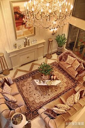 热门面积117平复式客厅欧式装修效果图片