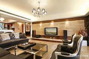 精美面积95平欧式三居客厅装修实景图片大全