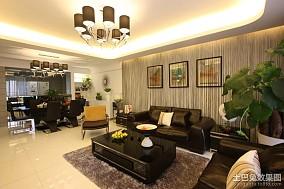 现代风格客厅相片墙装修效果图