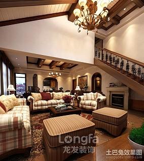 三居客厅美式装修欣赏图片大全