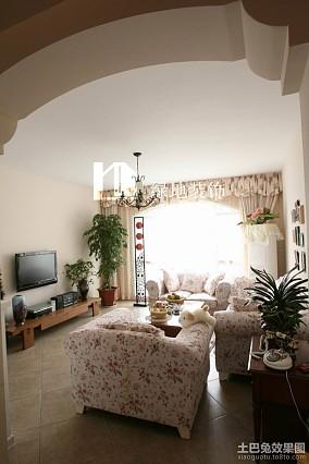 二居客厅简约装修设计效果图片