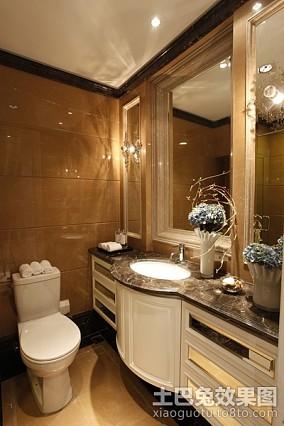 热门98平米三居卫生间新古典装修欣赏图片