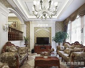 面积142平复式客厅欧式装饰图片欣赏