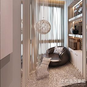 2018精选96平米三居阳台简约设计效果图