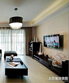 热门74平米简约小户型休闲区效果图片